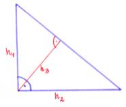 przyprostokątne w trójkącie