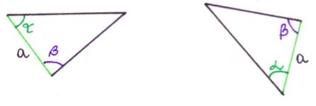 dwa trójkąty są przystające