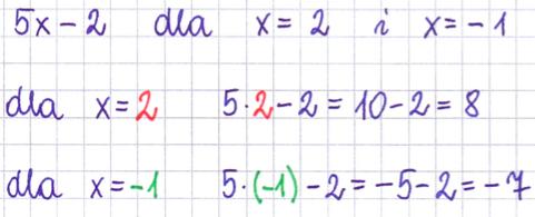 obliczanie wyrażenia algebraicznego