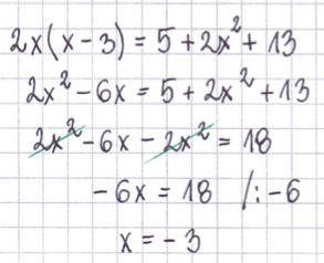 wynik równania zredukowanego