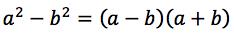 wzór na różnicę kwadratów