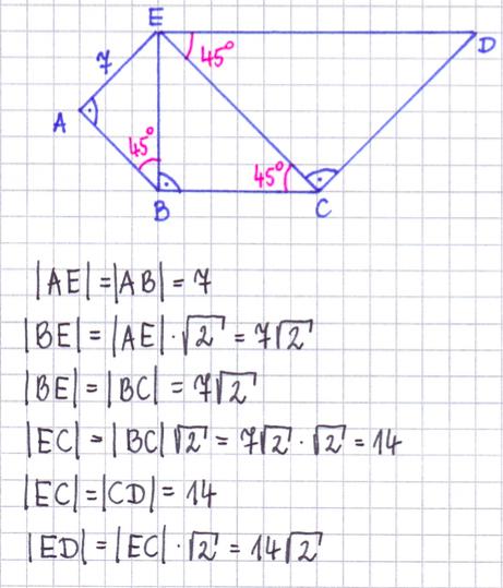 Przykład: Oblicz długości boków