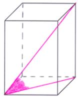 Kąt między przekątną graniastosłupa a przekątną podstawy