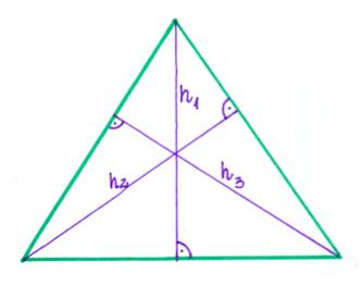 wysokość w trójkącie