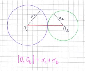 okręgi styczne zewnętrznie