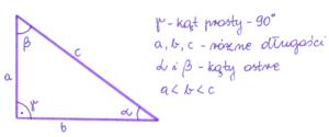 trójkąt prostokątny