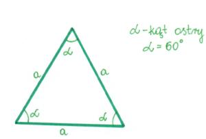 trójkąt równoboczny ostrokątny