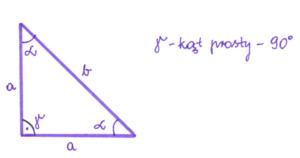 trójkąt równoramienny prostokątny