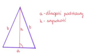 wysokość w trójkącie równoramiennym