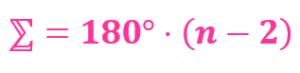 wzór na sumę kątów w wielokącie foremnym