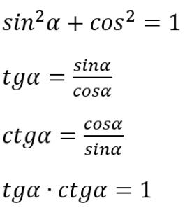 wzory na sinus cosinus