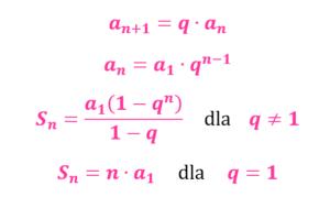 wzory na ciąg geometryczny